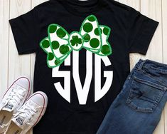 6c0ba458d st patrick's day svg, monogram svg, girls svg, iron on, polka dot svg,  commercial use svg, printable, SVG, DXF, Eps, png, St patrick's day