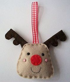 #Christmas #Reindeer #Ornament #Craft #Kit  by paper-and-string #Crafting #DIY #Create #Make