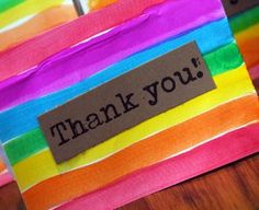 Rainbow Thank You Cards | AllFreeKidsCrafts.com