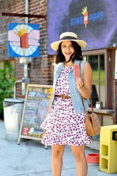 Cooper and Ella cherry print dress - summer outfit ideas - My Style Vita /mystylevita/