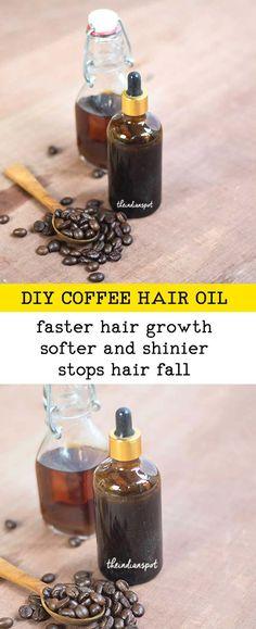 DIY COFFEE HAIR OIL FOR HAIR GROWTH