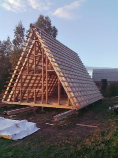 Are A-frame Cabin Kits Worth it? Building Costs, Building A Tiny House, Tiny House Cabin, Tiny House Design, Cabin Homes, Building A Cabin, Tiny Homes, Cabins In The Woods, House In The Woods
