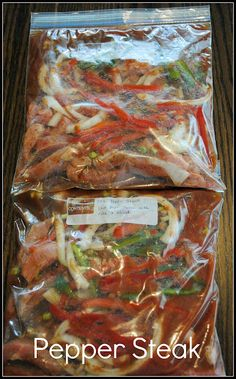 5 crock pot meals doubled and frozen for 10 easy- no prep- crock pot meals for a family of four! Includes grocery shopping list. Recipes included are for Hawaiian Chicken Sandwiches, Chicken Curry, Salsa Chicken, Scalloped Potatoes & Ham, and Pepper Steak. When ready to use - defrost slightly, then put the frozen chunk in the crockpot and cook on low for 8 hours. I really need to do this!!