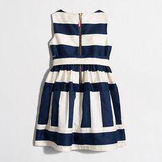 Factory girls' striped sateen dress : Dresses | J.Crew Factory