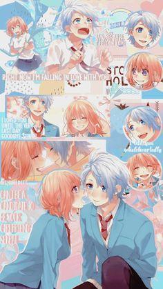 Anime Cupples, Anime Films, Kawaii Anime, Anime Characters, Wallpaper W, Kawaii Wallpaper, Anime Group Of Friends, Koi, Honey Works