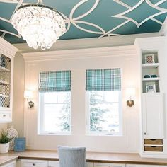 Take On The 5th Wall By Painting Your Ceiling A Distinct Blue, Like Baltic  Sea