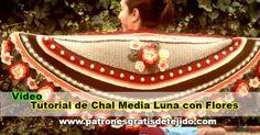Cómo tejer chal media luna de Adinda Zoutman con video tutorial en español