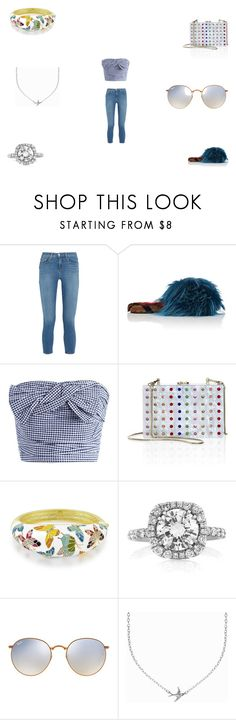 """""""Sunday Funday"""" by panicsam ❤ liked on Polyvore featuring L'Agence, Mr & Mrs Italy, Chicwish, Milly, Mark Broumand, Ray-Ban and Minnie Grace"""