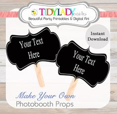 Photobooth Prop - INSTANT & EDITABLE - PDF Printable - Wedding diy Photo Booth, Engagement Photos, Baby Photo, Text Prop