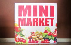 Mini Market - Wooden Sign for Mini Market at Skyros Island #woodensigns