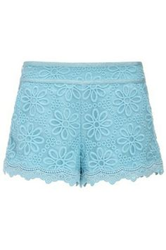 Embroidered Organza Shorts