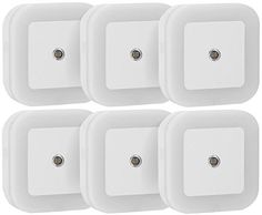 SYCEES 0.5W Plug in LED Night Light Lamp with Light Sensor (Daylight White, Pack of 6)