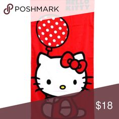 Hello Kitty Beach Towel 30x60 Fully Licensed Beach Towel Brand new in bag with tag Hello Kitty Other