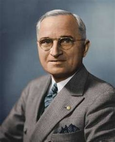 """Thirty-Third President - Harry Truman  He was well known for his integrity, honesty, and efficiency.  Nickname - """"Give 'Em Hell Harry"""