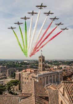 The Frecce Tricolori - Low pass flight during Italian Republic Day  Photo by Gian Marco Anzellotti
