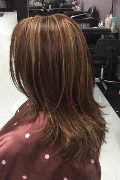 Caramel hi lights and cut and style done by Kristina Carter & Caramel light golden brown hi Lites ombré sombre Balayage wavy layer ...
