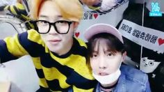 Let's Play with J-hope part two with special guest, bias wrecker Park Jimin!! 박지민 그리고 제이홉 오빠 뷔 앞 !!! <3