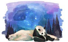 Panda Painting, Pretty, Artwork, Work Of Art, Auguste Rodin Artwork, Artworks, Illustrators