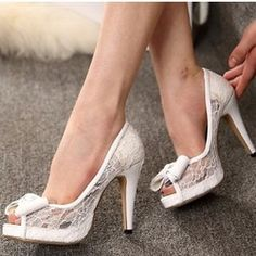 Online Shop 29827 Female 2015 Open Toe Ultra High Heels Lace Bow Platform Shoes Wedding Shoes Women Sexy Party Pumps 3 Color Size 34-43|Aliexpress Mobile