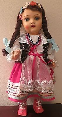 "18 ""Antique ASK Adam Shrayer Kalisz polski / Polska Ethnic Celuloid Doll…"
