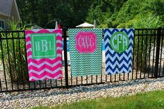 Monogram Beach Towels, design your own towel with 40+ patterns and colors to choose from. Makes an excellent gift. $55.00