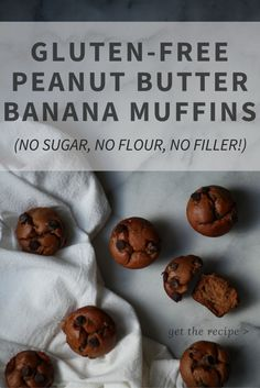 Easy recipe for sugar-free, gluten-free peanut butter banana muffins. The batter is made in a Vitamix/Blentec blender.