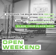 #TrainLikeAnAthlete Train with us for FREE all weekend on Sat 5th & Sun 6th November. - We will be running a full class timetable as well as open gym on both days from 10am-4pm. -  Book your free tickets online now by following the link in our bio - #Birmingham #Moseley #Edgbaston #Solihull #BritishWeightlifting #BWL #GymTime #FitFam #Training #Sports #exercise #crossfit #trainlikeanathlete #exciting #instafit #gym #girlswholift #thisgirlcan #olympiclifting #brumlife #brumgyms  #wattbike #assaultbike #sandc #boxing #openweekend #olympiclifting #rugby #performance #athlete