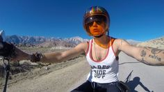 500 women gather and hit the road in the California desert for an annual ladies only camp and ride event.