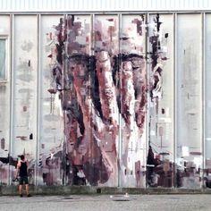 The work of Borondo in Arcidosso, Italy #streetart #borondo