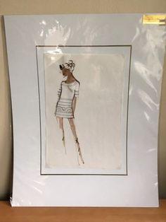 Original Design Sketch Balmain Fashion House Paris - Haute Couture c. 1960 #6 | eBay