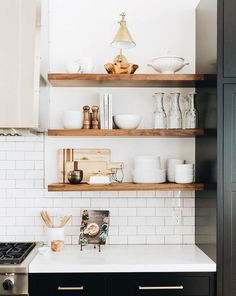 Boston Single Arm Library Light above shelves Home Decor Kitchen, Rustic Kitchen, Kitchen Furniture, Home Kitchens, Country Kitchen, Kitchen Interior, Decorating Kitchen, Small Kitchens, Kitchen Small