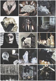 Black/White Quartz Witch aesthetic