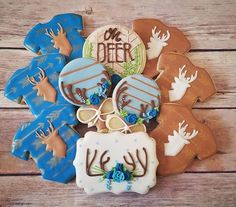 "Absolutely in LOVE with this baby shower themed collection ""Oh Deer, it's a boy!"" We put a #boho spin on a woodland / forest them and it was pure magic! Cutters by @trulymadplastics : stencils by @hillaryramos : colors and airbrush using @americolor supplies #decoratedcookie #decoratedcookies #customcookies #cookiedecorating #edibleart #ediblegifts #foodart #bohobaby #bohostyle #woodland #woodlandbaby #deer #ohdeer #babyshower #partyfavors #favors #recuerdos #gourmetdessert #salinas…"