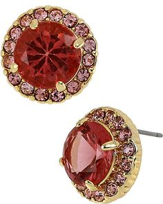 ICONIC PINKALIOUS GEM STUD FUSCHIA accessories jewelry earrings fashion