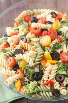 Simple Cold Pasta Salad Recipes With Italian Dressing.Italian Pasta Salad Together As Family. Zesty Italian Pasta Salad 1 Life Made Simple. Easy Pasta Salad Recipe, Easy Salad Recipes, Pasta Recipes, Cooking Recipes, Healthy Recipes, Healthy Pasta Salad, Best Pasta Salad, Healthy Food, Italian Dressing Pasta Salad