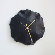 Faceted Wall Clock by RawDezign on Etsy, £50.00