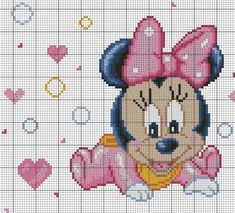Discover thousands of images about Community wall photos – photos Mini Cross Stitch, Cross Stitch Charts, Hama Beads Disney, Flower Chart, Disney Cross Stitch Patterns, Stitch Cartoon, Baby Embroidery, Tapestry Crochet, Plastic Canvas Patterns
