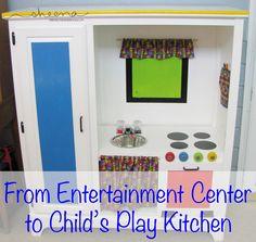 Entertainment Center to Play Kitchen-11