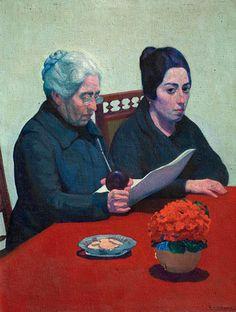 De sobremesa Nicanora y Petronila, 1919. Carmelo de Arzadun (1888-1968) Uruguay.