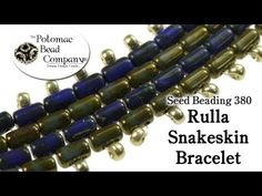 Shows how to make a snakeskin bracelet (peyote based) using the Czech 2-hole Rulla beads. http://www.potomacbeads.com