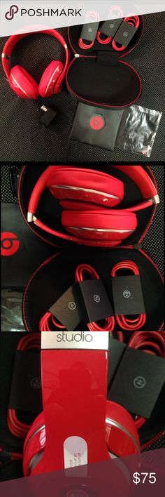 New Beats Studio 2.0 New Beats Studio 2.0 Wired, Over Ear Rechargeable Headphones. 3.5mm Cable. USB Charger. 3.5mm Cable With Mic Beats Other