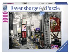 Ravensburger 19470 - Puzzle 1000 Pezzi, New York Times Square, Cartone: Amazon.it: Giochi e giocattoli