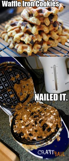 waffle-iron-cookies-nailed-it   this is a really funny site with a bunch of pinterst crafts gone wrong.