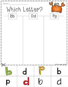 Letter Sort - b, d, p
