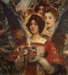 The Soul of the Forest.   by Edgar Maxence 1898