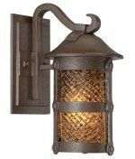 Minka Lavery 9251-A199-PL Lander Heights Energy Smart 1 Light Outdoor Wall Light in Forged Bronze with Spanish Fire Piastra glass by Minka Lavery. $239.90. Rustic Outdoor Wall Light in Forged Bronze with Spanish Fire Piastra glass from the Lander Heights Collection by Minka Lavery. Dimensions: 12.50 H 6.50 W 8.25 E - 9251-A199-PL