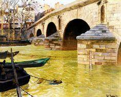 Thaulow, Frits - The Pont Marie, Paris 1893