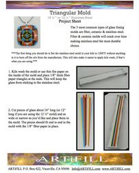 Project sheet on How to make a fused glass fractal (kaleidoscope) slice. SO pretty. www.ARTiFILL.com