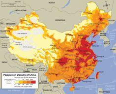 The Heihe-Tengchong Line of China connecting two border towns divides China into two parts of roughly the same size, but : the population Changchun, China Map, Shenyang, Zhengzhou, Harbin, Tianjin, Asian History, Qingdao, Mongolia