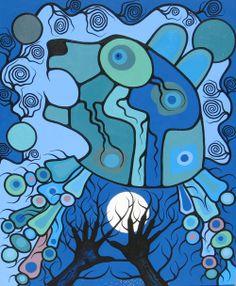 Ursa major by Mark Seabrook Native American Paintings, Native American Art, Kunst Der Aborigines, Modern Indian Art, Woodland Art, Haida Art, Inuit Art, Art Drawings Sketches, Indigenous Art